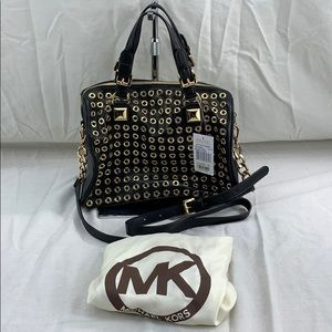 NWT Michael Kors Grayson Grommet TZ satchel bag